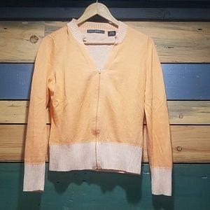 Sweaters - French Cuff Zippered Cardigan Sweater